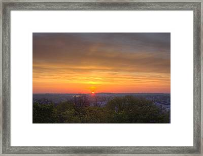 Sunrise Framed Print by Daniel Sheldon