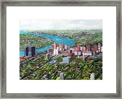 Sunrise Detroit Framed Print by Richard Wandell