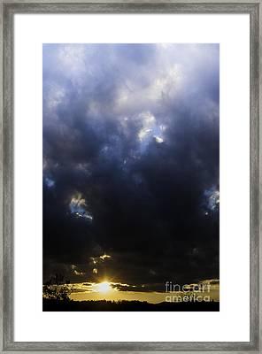Sunrise Drama Framed Print by Thomas R Fletcher