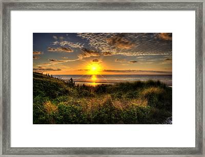 Sunrise Dune Framed Print by Greg and Chrystal Mimbs