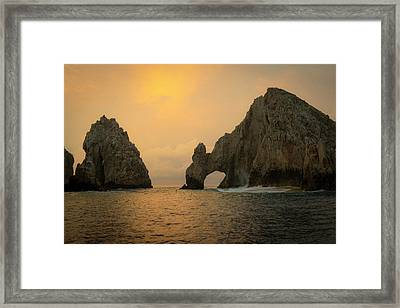 Sunrise, El Arco, The Arch, Cabo San Framed Print