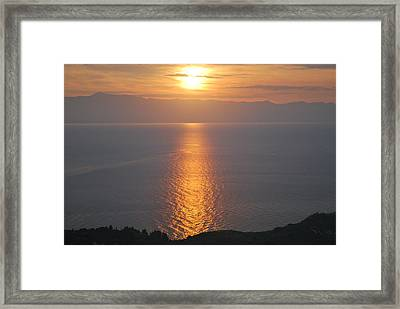 Sunrise Erikousa 1 Framed Print by George Katechis