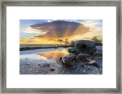 Sunrise Explosion Framed Print