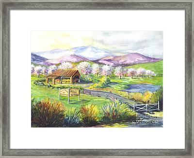 Sunrise Farm Stand Framed Print