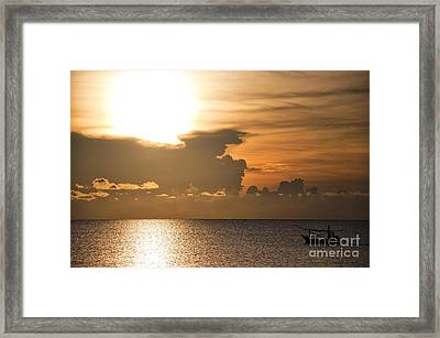 Sunrise Fisherman 01 Framed Print