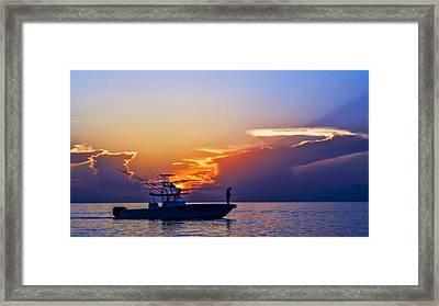 Sunrise Fishing Framed Print