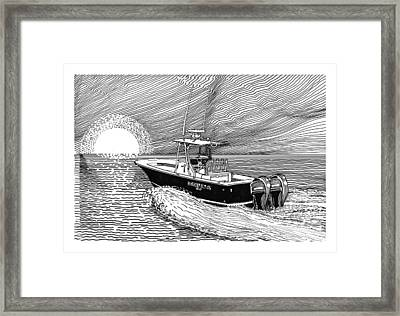 Sunrise Fishing Framed Print