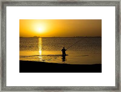 Sunrise Fishing Framed Print by Scott Carruthers