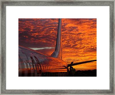 Sunrise Flight Framed Print