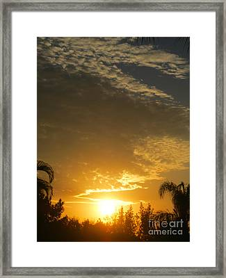 Sunrise. Florida Framed Print
