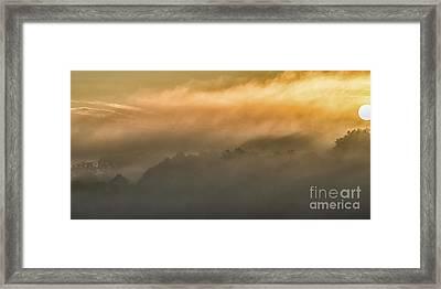 Sunrise Fog Appalachian Mountains Framed Print