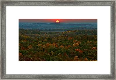 Sunrise From Atop Framed Print by Julie Franco