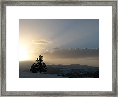 Sunrise From Blacktail Plateau 05 Framed Print