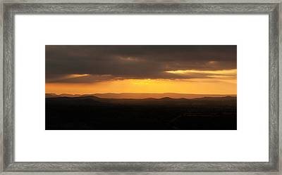 Sunrise From Enchanted Rock Framed Print