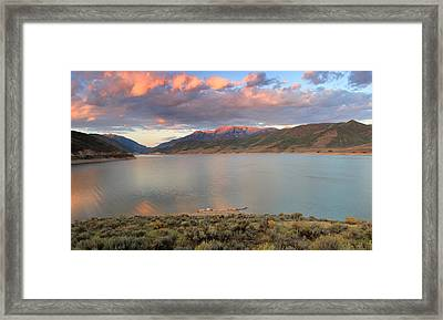 Sunrise From The Island At Deer Creek. Framed Print