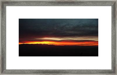 Sunrise From The Rim 002 Framed Print