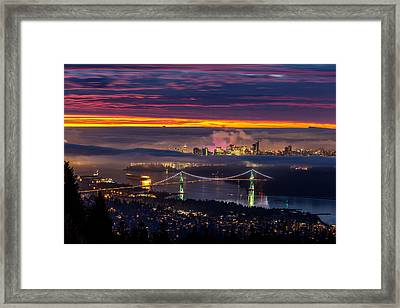 Sunrise From West Vancouver Framed Print by Pierre Leclerc Photography