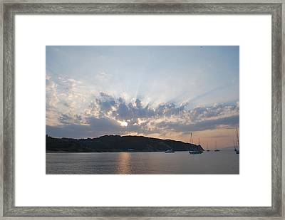 Framed Print featuring the photograph Sunrise by George Katechis