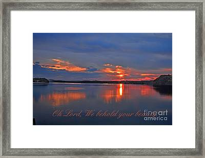 Sunrise Framed Print by Geraldine DeBoer