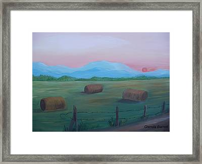 Sunrise Framed Print by Glenda Barrett