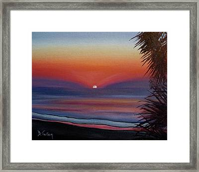 Framed Print featuring the painting Sunrise Glow by Donna Tuten