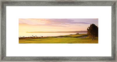 Sunrise Golf Course Me Usa Framed Print