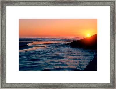 Sunrise Good Harbor Framed Print by Michael Hubley