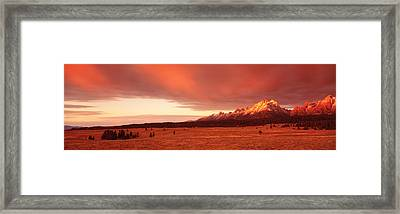 Sunrise Grand Teton National Park Wy Usa Framed Print by Panoramic Images