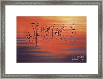 Sunrise Grass Reflections Framed Print