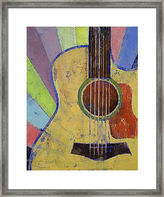Sunrise Guitar Framed Print by Michael Creese