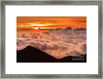 Sunrise Haleakala National Park - Maui Framed Print by Henk Meijer Photography