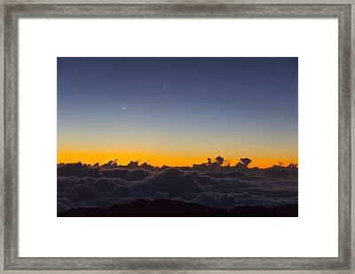 Sunrise Haleakala Volcano Framed Print by Norman Blume