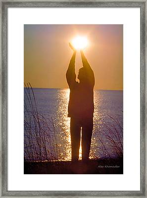 Sunrise - Healing Light Framed Print by Alex Khomoutov