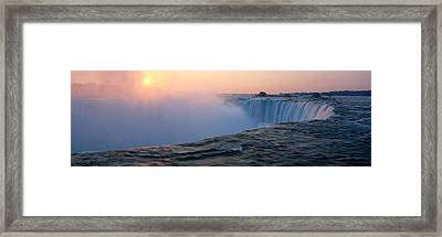 Sunrise Horseshoe Falls Niagara Falls Framed Print by Panoramic Images