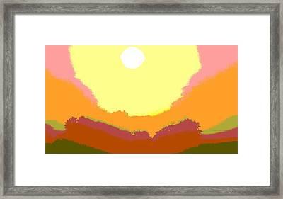 Sunrise Hue Framed Print