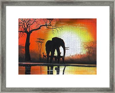 Sunrise In Africa Framed Print