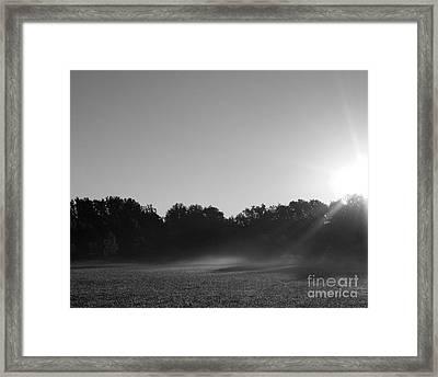 Sunrise In Black And White Framed Print