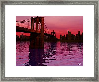 Sunrise In Brooklyn Framed Print