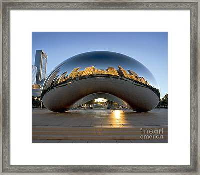 Sunrise In Cloudgate Framed Print
