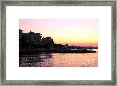 Sunrise In Cyprus Framed Print