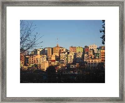 Sunrise In Dalat Framed Print by Sandy Ramsey