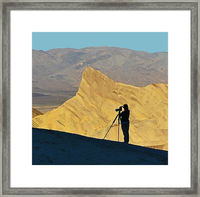 Framed Print featuring the photograph The Photographer's Art by Dana Sohr