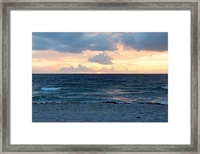Framed Print featuring the photograph Sunrise In Deerfield Beach by Rafael Salazar