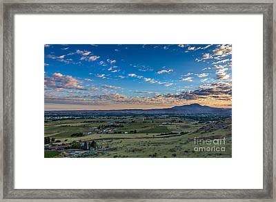 Sunrise In Emmett Valley Framed Print