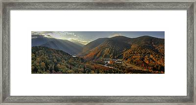 Sunrise In Franconia Notch Framed Print