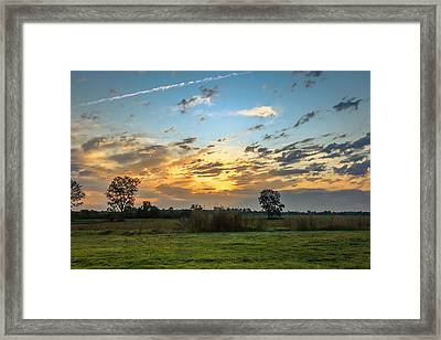 Sunrise In Ft Smith Framed Print by Leroy McLaughlin