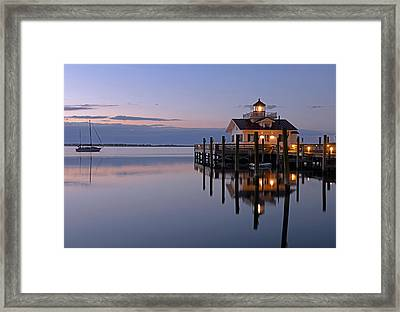 Sunrise In Manteo Framed Print