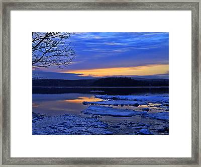 Sunrise In New Brunswick Framed Print