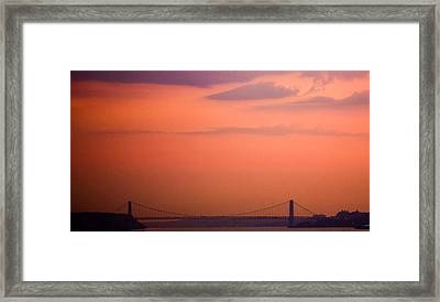 Sunrise In New York Framed Print by Sara Frank