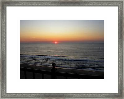 Framed Print featuring the photograph Sunrise In Ocean City by Victoria Lakes